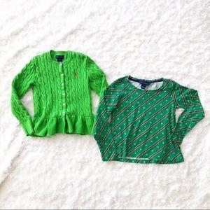 Ralph Lauren Girls Sweater and top set Size S (7)